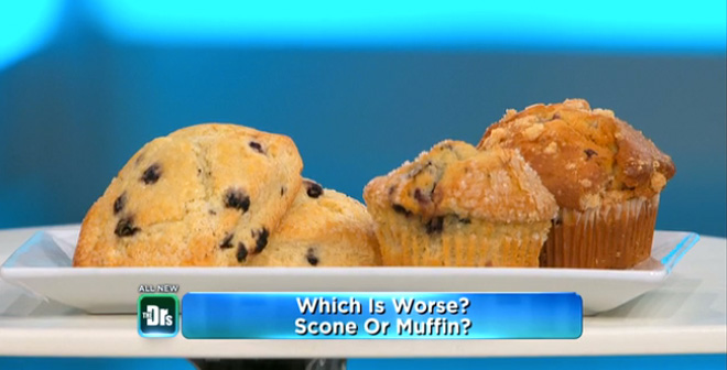 Which is Worse: Scone vs. Muffin