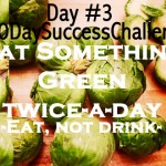 Day 3 – Eat Something Green Twice A Day